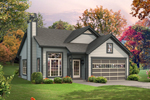 Cabin & Cottage House Plan Front of House 121D-0012