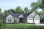 Colonial House Plan Front of House 121D-0013
