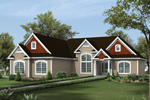Traditional House Plan Front of House 121D-0015