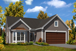 Ranch House Plan Front of House 121D-0017