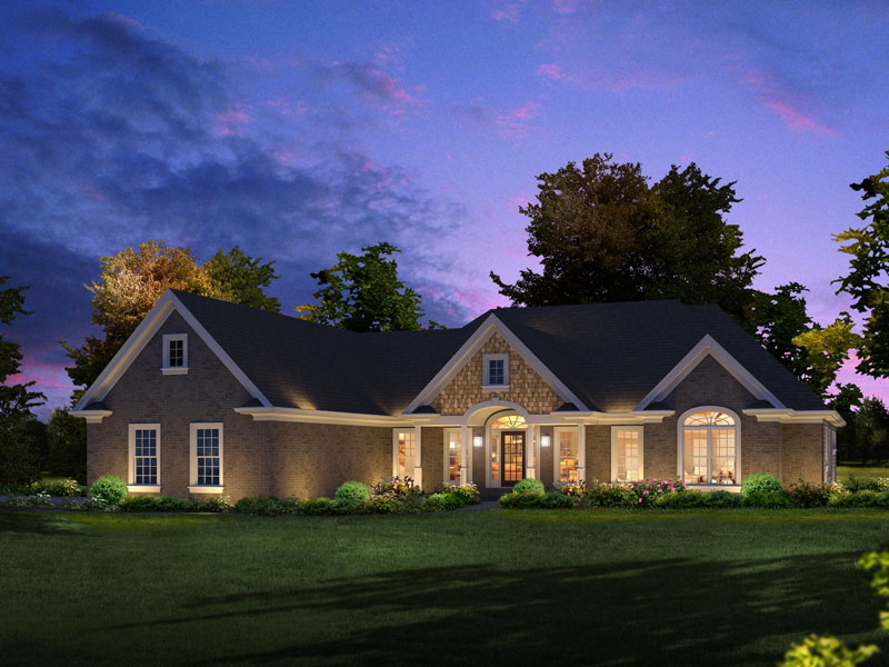 Gabriella Luxury Ranch Home Plan 121D-0019 | House Plans and ... on
