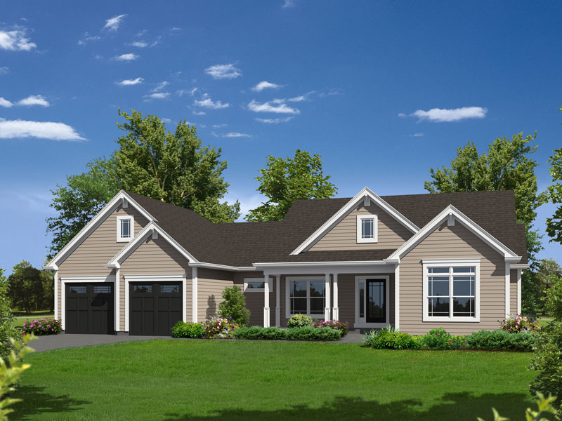 Hailey Country Ranch Home Plan 121D-0020   House Plans and More on arts and crafts post and beam, arts and crafts bungalow home plans, arts and crafts carriage house, arts and crafts small house plans,