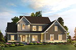 Craftsman House Plan Front of Home - Lauren Traditional Home 121D-0037 | House Plans and More