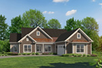 Craftsman House Plan Front of House 121D-0044
