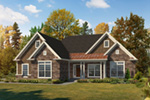 Traditional House Plan Front of House 121D-0045