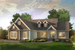 Ranch House Plan Front of House 121D-0046