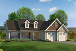 Cape Cod & New England House Plan Front of House 121D-0049