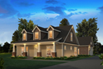 Traditional House Plan Front of House 121D-0050