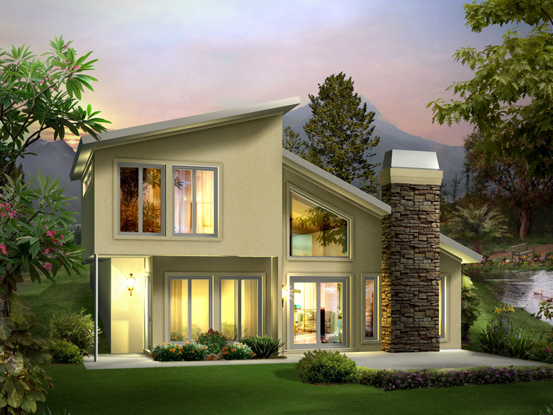 Contemporary Style Two-Story House Built Into The Earth