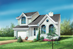 Traditional House Plan Front of House 126D-0002