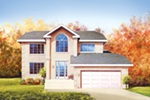 Traditional House Plan Front of House 126D-0003
