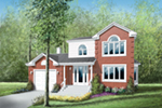 Traditional House Plan Front of House 126D-0004