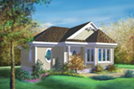 Bungalow House Plan Front of House 126D-0005