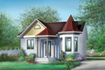 Cabin & Cottage House Plan Front of House 126D-0008
