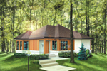 Modern House Plan Front of House 126D-0012