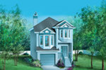 Traditional House Plan Front of House 126D-0014