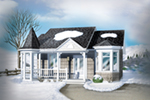 Victorian House Plan Front of House 126D-0015