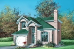 Traditional House Plan Front of House 126D-0017