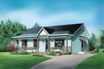 Ranch House Plan Front of House 126D-0023