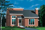 Saltbox House Plan Front of Home - Reid Contemporary Home 126D-0144 | House Plans and More