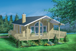 Lake House Plan Front of Home - Sinclair Shores Vacation Cottage 126D-0162 | House Plans and More
