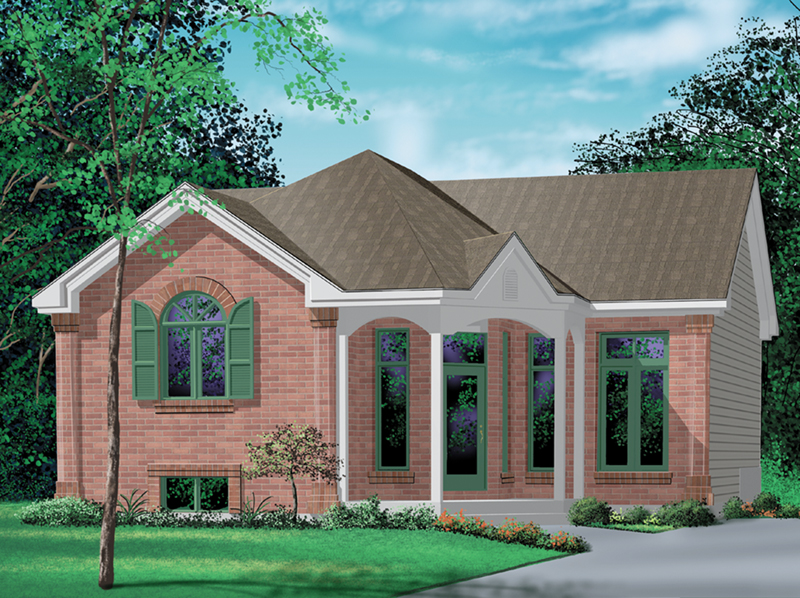 European House Plan Front of Home - Doellman Traditional Home 126D-0313 | House Plans and More