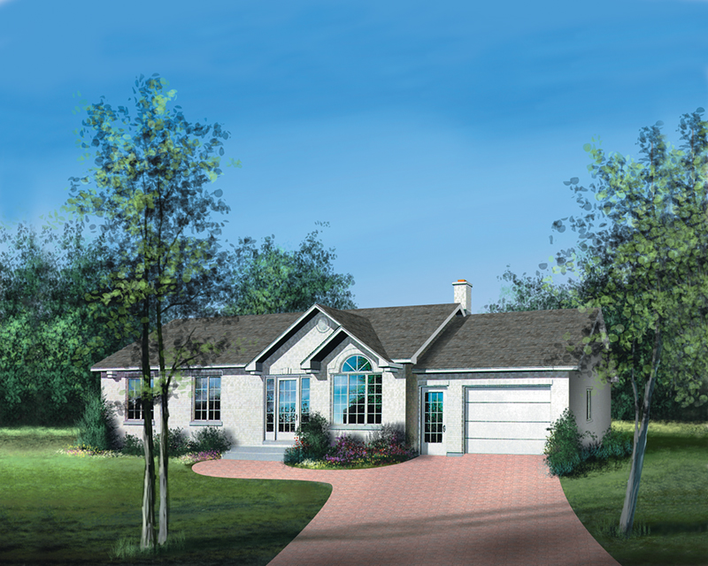Ranch House Plan Front of Home - Karen Creek Ranch Home 126D-0314 | House Plans and More