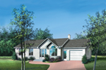 Ranch House Plan Front of Home - Monte Traditional Ranch Home 126D-0316 | House Plans and More