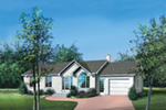 Ranch House Plan Front of Home - Nicoline Ranch Home 126D-0317 | House Plans and More