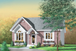 Country House Plan Front of Home - Quarry Ridge Ranch Home 126D-0326 | House Plans and More