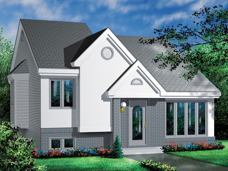 Modern House Plan Front of Home - Benita Contemporary Home 126D-0327 | House Plans and More