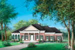 Greek Revival House Plan Front of House 126D-0352