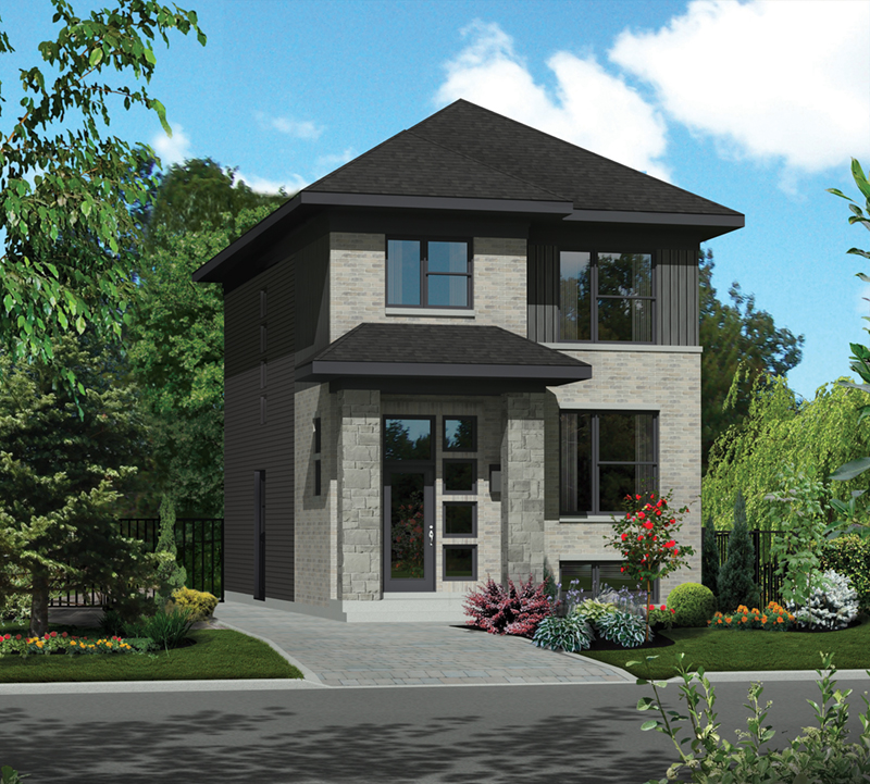 Eddy Modern Narrow Lot Home Plan 126D-0816 | House Plans and ... on modern southwest house plans, modern sloped lot house plans, zero lot line patio home plans, small narrow lot duplex plans, 3-story narrow house plans, inexpensive two-story house plans, narrow coastal house plans, ultra narrow lot plans, one story courtyard house plans, modern tudor house plans, modern elevator house plans, modern hillside home plans, modern concrete house plans, narrow waterfront home plans, modern house design in philippines, small house plans, modern two-story house plans, modern affordable home plans, modern house plans with lots of windows, craftsman narrow house plans,