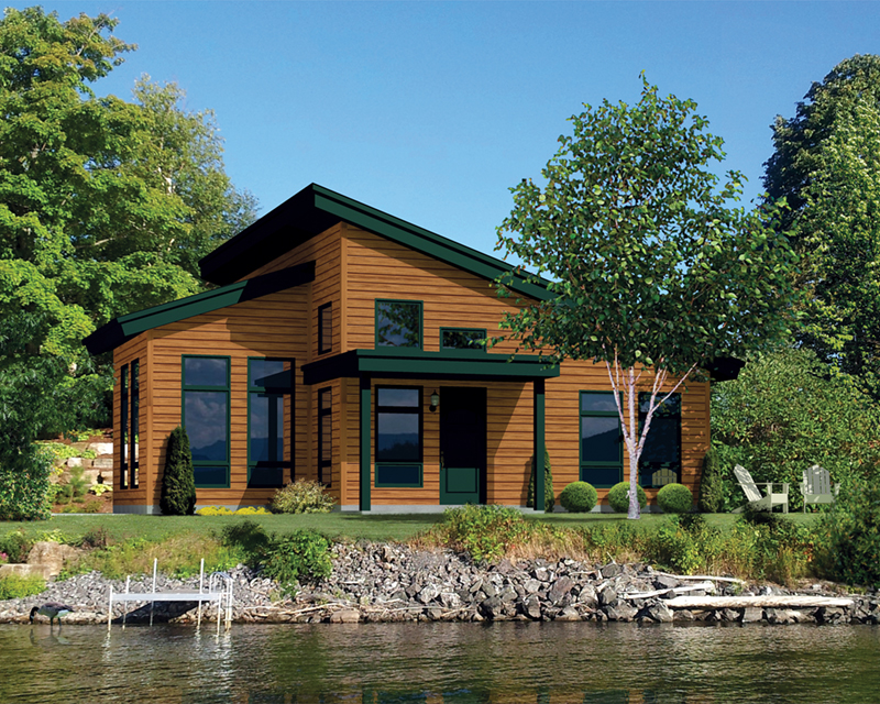 Moonlight Bay Modern Cabin Plan 126D-0988 | House Plans and More