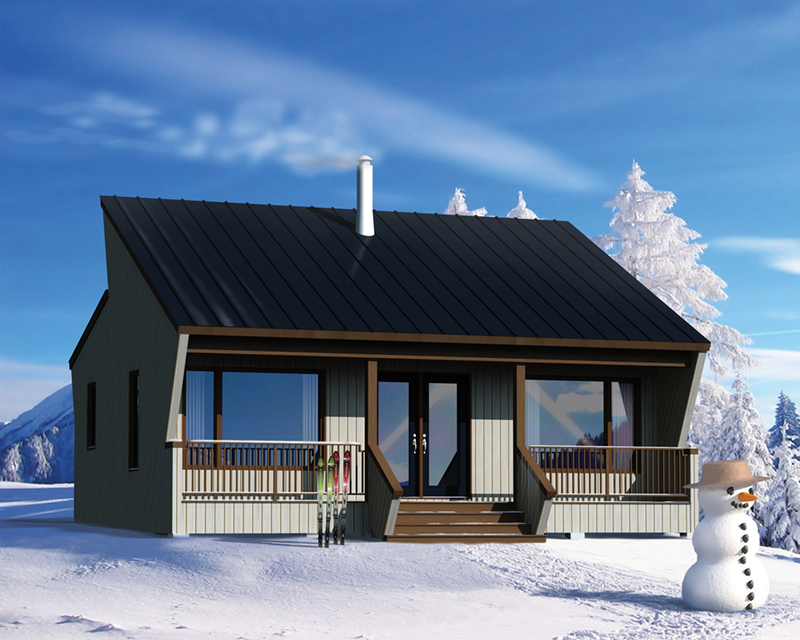 Modern House Plan Front of Home - Winter Hollow Mountain Cabin 126D-0995 | House Plans and More