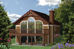 Victorian House Plan Front of Home - Castaway Cove Lake Cabin 126D-0998 | House Plans and More