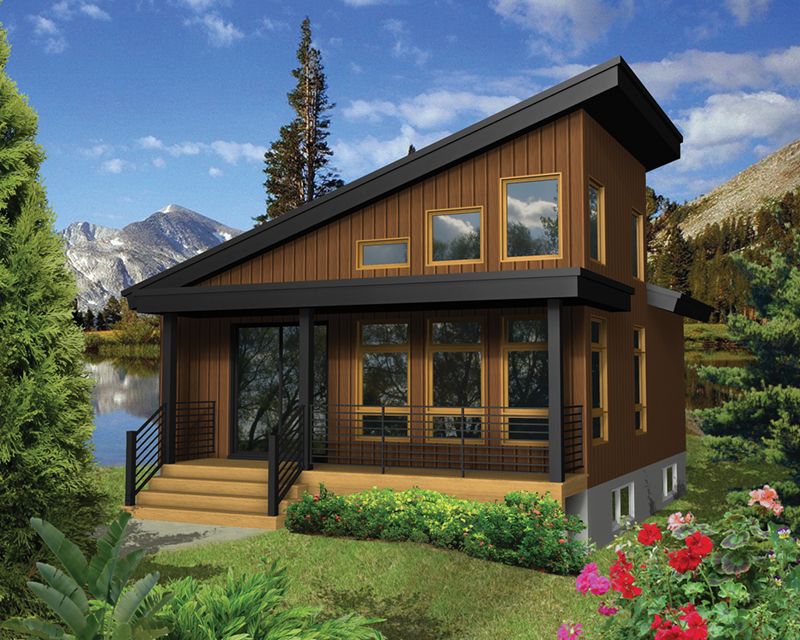Tree Top Rustic Modern Cabin Plan 126D-1003 | House Plans ...