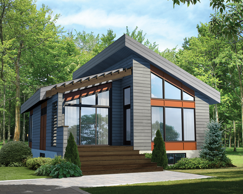 Mohican Rustic Modern Cabin Plan 126D-1012 | House Plans and ...