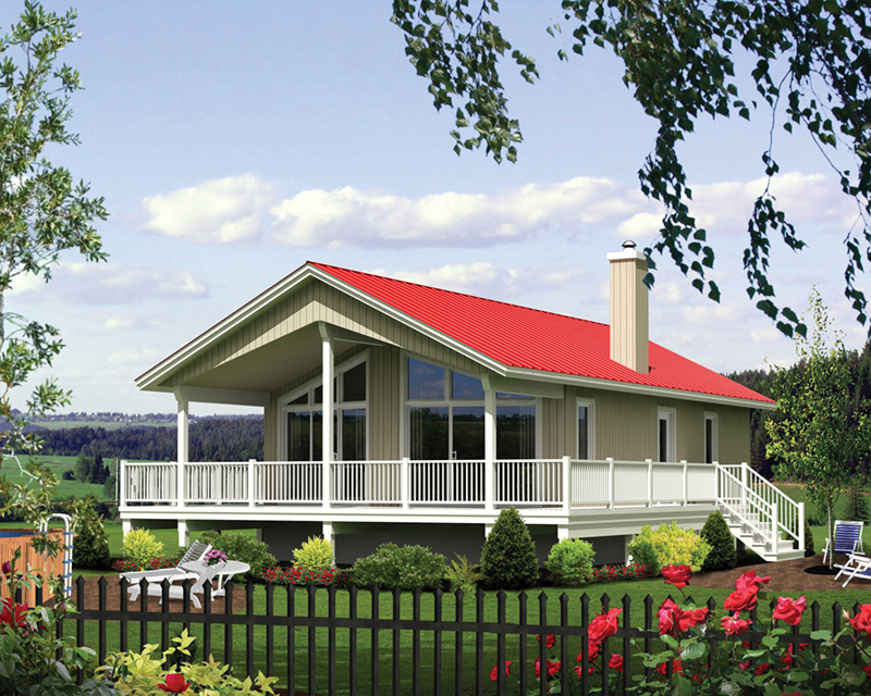 Vacation House Plan Front of Home - Port Delta Vacation Home 126D-1019 | House Plans and More