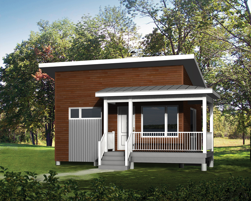 Vacation House Plan Front of Home - Carlo Modern Cottage 126D-1148 | House Plans and More