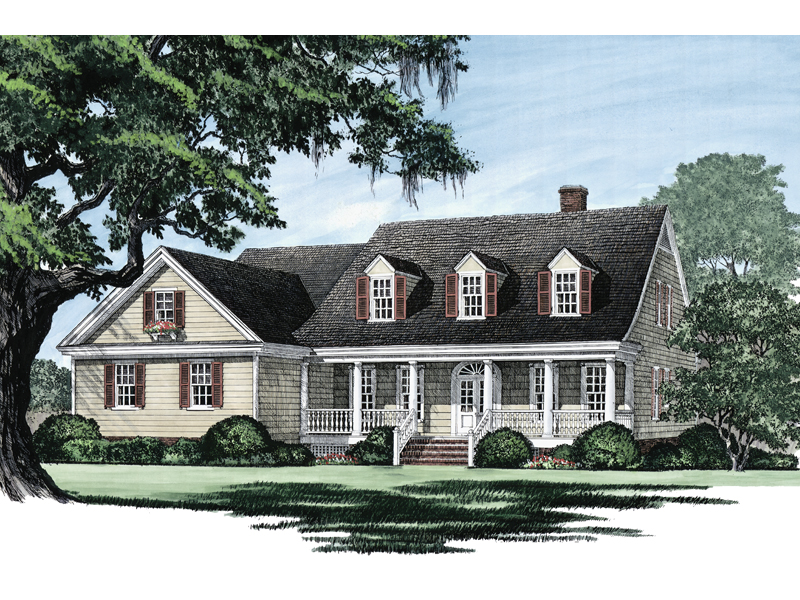Farmhouse Plan Front Image - Ericson Southern Plantation Home 128D-0002 | House Plans and More