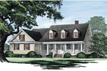 Cabin & Cottage House Plan Front Image - Ericson Southern Plantation Home 128D-0002 | House Plans and More