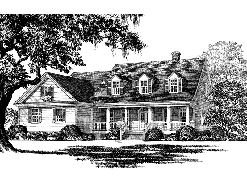 Cabin & Cottage House Plan Front Image of House - Ericson Southern Plantation Home 128D-0002 | House Plans and More