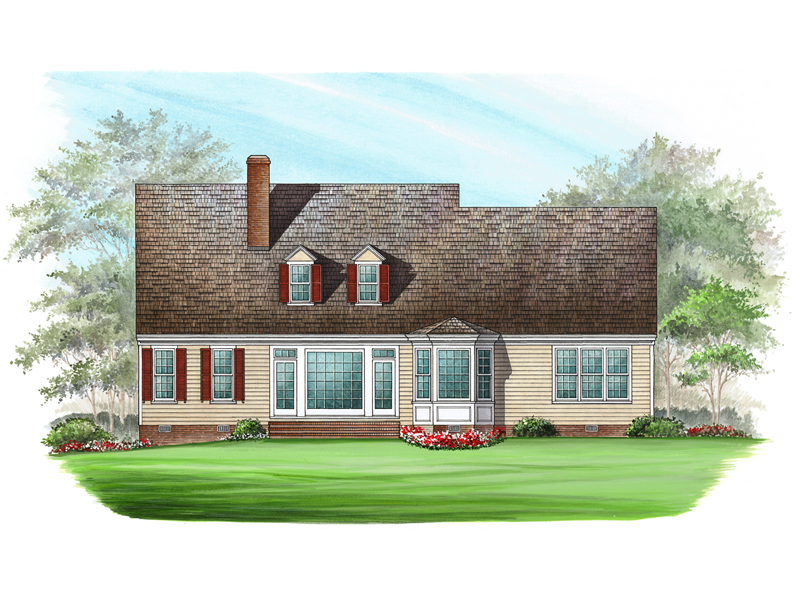 Farmhouse Plan Color Image of House - Ericson Southern Plantation Home 128D-0002 | House Plans and More