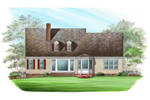 Cabin & Cottage House Plan Color Image of House - Ericson Southern Plantation Home 128D-0002 | House Plans and More