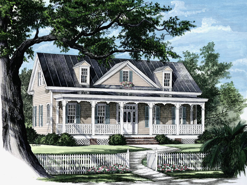 Country House Plan Front Image - Quail Ridge Cottage Home 128D-0003   House Plans and More
