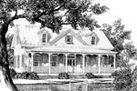 Country House Plan Front Image of House - Quail Ridge Cottage Home 128D-0003   House Plans and More