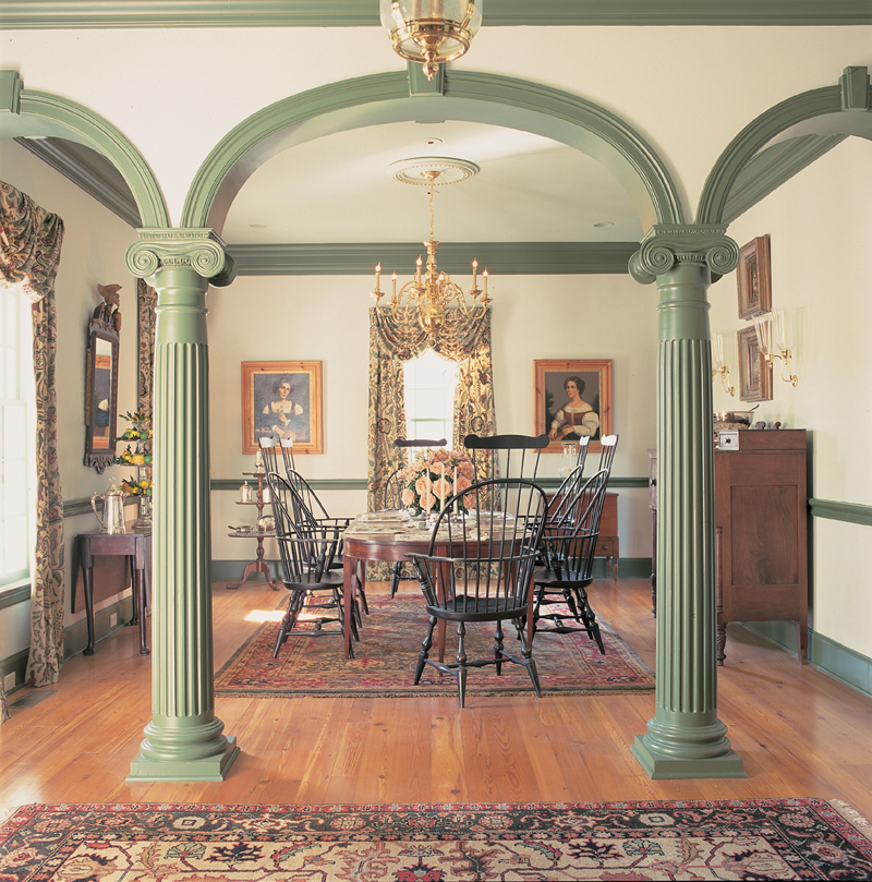 Traditional House Plan Dining Room Photo 01 - Garrison Colonial Home 128D-0004 | House Plans and More