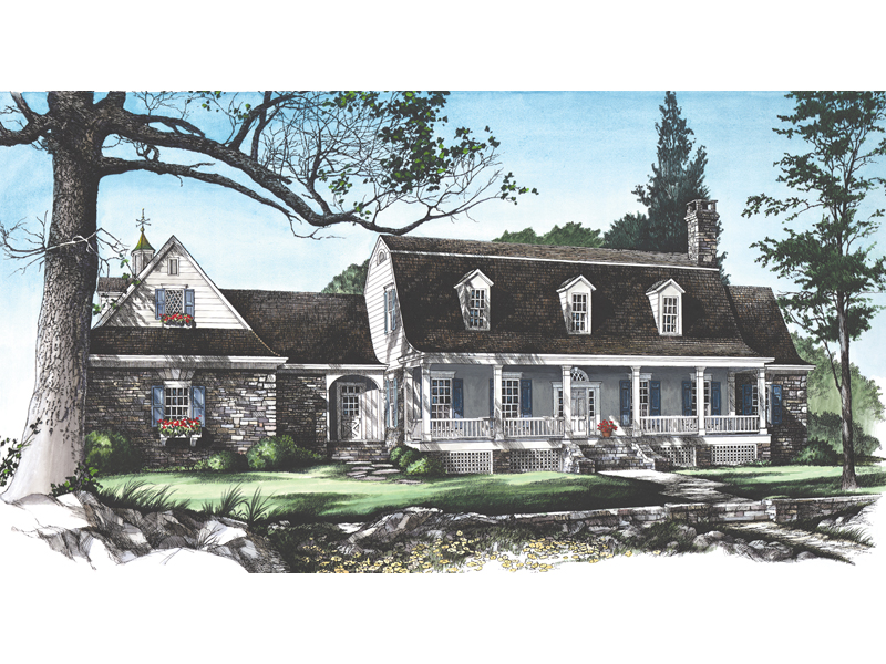 Traditional House Plan Front Image - Garrison Colonial Home 128D-0004 | House Plans and More