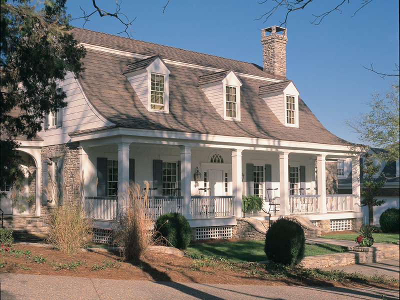Traditional House Plan Front of Home - Garrison Colonial Home 128D-0004 | House Plans and More